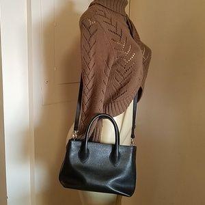 Furla  saffiano small cross BLACK LEATHER body bag